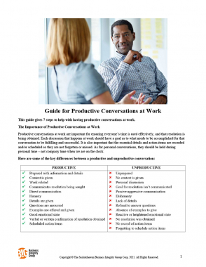 Guide for Productive Conversations at Work