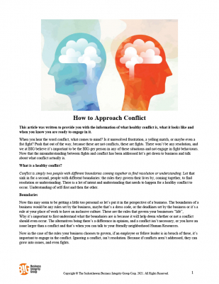 How to Approach Conflict