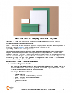 How to Create a Company Branded Template