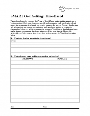 SMART Goal Setting - Part 5 - Time-Based - Questions Template