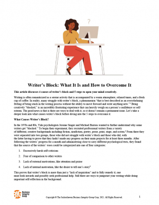 Writer's Block - What It Is and How to Overcome It