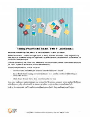 Writing Professional Emails Part 6 - Attachments